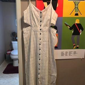 Madewell side cutout dress